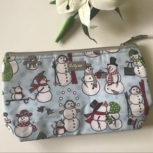 Thirty One snowman thermal pouch purse